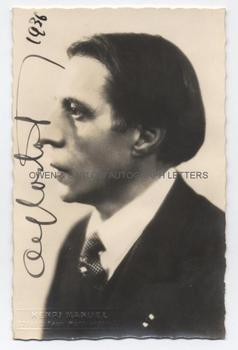 ALFRED CORTOT (1877-1962) Photograph Signed