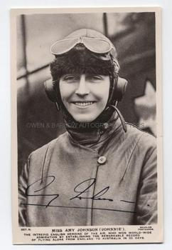 AMY JOHNSON (1903-1941) Photograph Signed