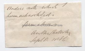 ANTHONY TROLLOPE (1815-1882) Autograph Signature