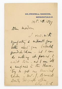 EDWIN ARNOLD (1832-1904) Autograph Letter Signed