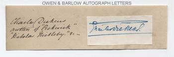 CHARLES DICKENS (1812-1870) Autograph Signature