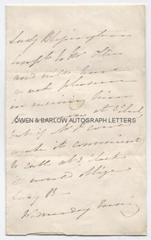 LADY BLESSINGTON (1789-1849) Autograph Letter
