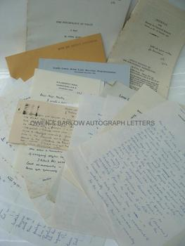 CYRIL BURT (1883-1971) A small archive of autograph letters and signed papers