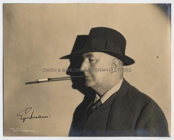 EDGAR WALLACE (1875-1932) Signed Photograph