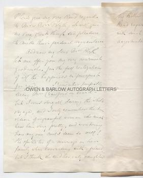 ELIZABETH BLACKWELL (1821-1910) Autograph Letter Signed