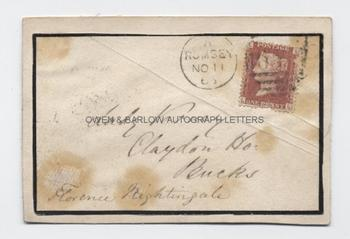 FLORENCE NIGHTINGALE (1820-1910) Autograph Envelope Signed
