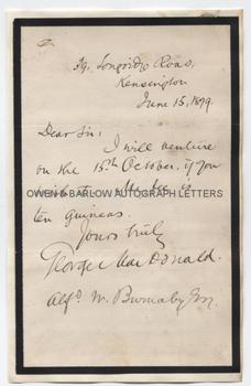 GEORGE MACDONALD (1824-1905) Autograph Letter Signed