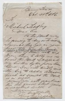 GEORGE PEPPLE (1849-1888) Autograph Letter Signed