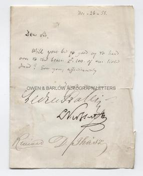 GIUSEPPE MAZZINI / LOUIS KOSSUTH / LEDRU-ROLLIN / REVOLUTIONARY COMMITTEE OF EUROPE Autograph Letter Signed