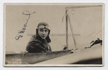 GUSTAV HAMEL (1889-1914) Signed Photograph