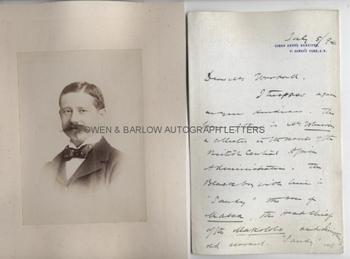 HENRY HAMILTON JOHNSTON Autograph Letter Signed