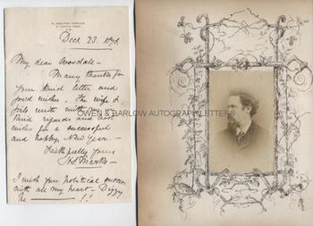 HENRY STACY MARKS (1829-1898) Autograph Letter Signed