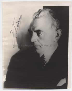 IGNAZ FRIEDMAN (1882-1948) Photograph Signed