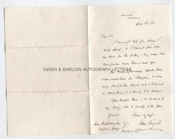 JOHN BRIGHT (1811-1889) Autograph Letter Signed