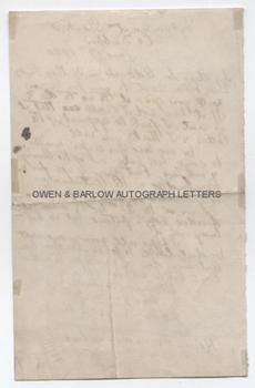 KATHARINE TYNAN (1861-1931) Autograph Letter Signed