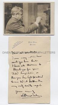 LAWRENCE ALMA-TADEMA (1836-1912) Autograph Letter Signed