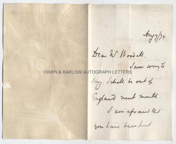 GRANVILLE LEVESON-GOWER, LORD GRANVILLE (1815-1891) Autograph Letter Signed