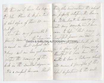 MARY CARPENTER (1807-1877) Autograph Letter Signed