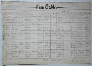 MATTHEW ARNOLD (1822-188) Autograph School Time-Table Signed
