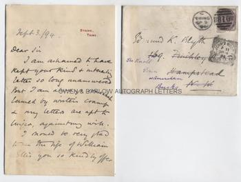 MRS HUMPHRY WARD (1851-1920) Autograph Letter Signed