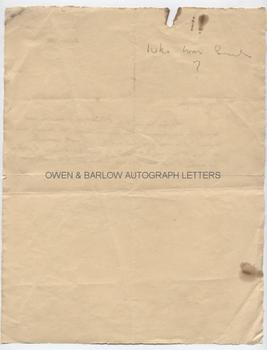 [JAMES JOYCE (1882-1941)] Letter by Paul Leon