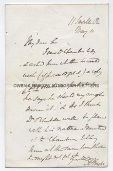 RICHARD BRIGHT (1789-1858) Autograph Letter Signed