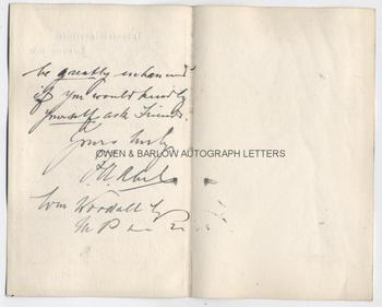 SIR FREDERICK ABEL (1827-1902) Autograph Letter Signed