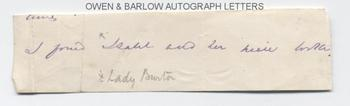 SIR RICHARD FRANCIS BURTON (1821-1890) Autograph Signature