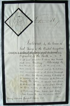 VICTORIA (1819-1901) Signed Appointment