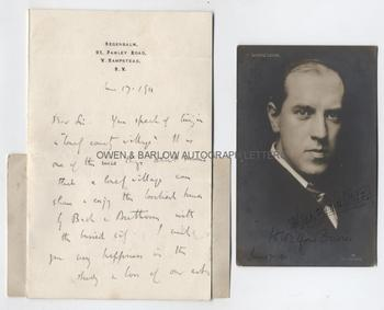 WALFORD DAVIES (1869-1941) Autograph Letter Signed
