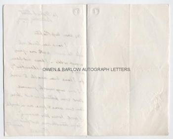 WILLIAM BOXALL (1800-1879) Autograph Letter Signed