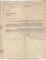 ADRIAN CONAN DOYLE (1910-1970) Typed Letter Signed