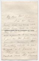ALFRED WILLIAM HOWITT (1830-1908) Autograph Letter Signed