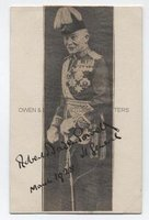 ROBERT BADEN-POWELL (1857-1941) Newsprint Portrait Signed