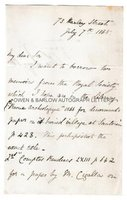 CHARLES LYELL (1797-1875) Autograph Letter Signed