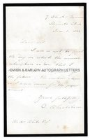 CHARLES WHEATSTONE (1802-1875) Autograph Letter Signed