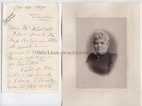 EMILY CRAWFORD (1841-1915) Autograph Letter Signed