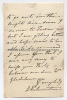 EMILY PALMERSTON (1787-1869) Autograph Letter Signed