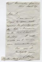 SIR GEORGE BIDDELL AIRY (1801-1892) Autograph Letter Signed