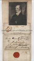 GEORGE CANNING (1770-1827) Autograph Letter Front Signed