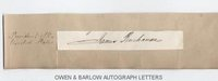 JAMES BUCHANAN (1791-1868) Autograph Signature