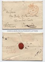 LORD GODERICH (1782-1959) Autograph Letter Cover Signed