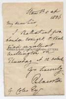 LORD PALMERSTON (1784-1865) Autograph Letter Signed