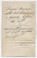 QUEEN ADELAIDE (1792-1849) Autograph Note Signed