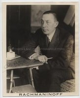 SERGEI RACHMANINOFF (1873-1943) Photograph Signed