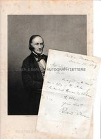 RICHARD OWEN (1804-1892) Autograph Letter Signed