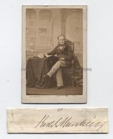 SIR RODERICK MURCHISON (1792-1871) Autograph Signature with Photograph
