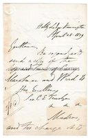 THOMAS BABINGTON MACAULAY (1800-1859) Autograph Letter Signed