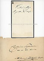 VICTORIA (1819-1901) & LOUISE LEHZEN (1784-1870) Document Signed