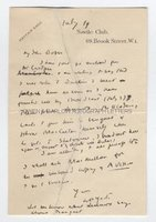 W B YEATS (1865-1939) Autograph Letter Signed